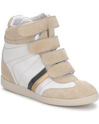 Serafini Lage Sneakers Manathan Scratch - Wit