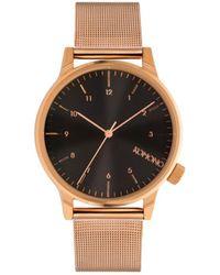 Komono Horloge Winston Royale Rose Gold - Black - Zwart