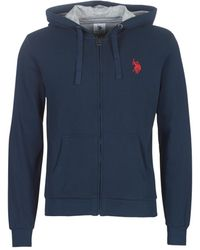 U.S. POLO ASSN. Sweater Uspa Logo Fleece - Blauw