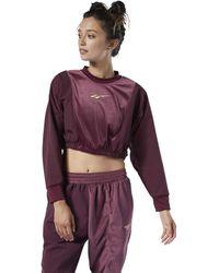 Reebok Sweater Classics Velour Sweatshirt Met Ronde Hals - Rood