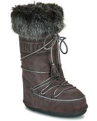 Moon Boot Snowboots Velvet - Grijs