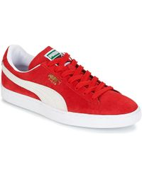 Puma Suede Classic + Men s Shoes (trainers) In Red in Red for Men - Lyst 501b2bd69