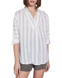 Teddy Smith Blouse Manches Longues Col Chemise Rafael Blouses - Blanc