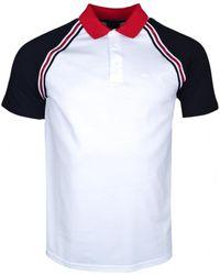 Armani Polo Exchange blanc noir et rouge régular