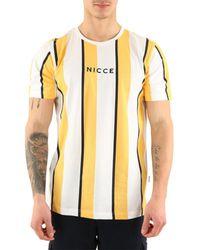 Nicce London T-Shirt manches courtes Stripe T-shirt - Jaune