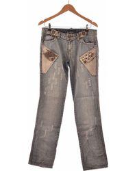 DSquared² Jean Droit Femme 40 - T3 - L Jeans - Bleu
