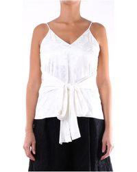 MSGM Blouses 2842MDT105207302 - Blanc