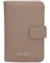 Liu Jo | A18175e0499 Wallet Women's Purse Wallet In Beige | Lyst