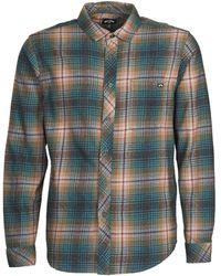 Billabong Overhemd Lange Mouw Coastline Ls - Grijs