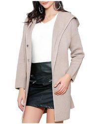 Infinie Passion - Beige Thick Coat 00w060744 Women's Coat In Beige - Lyst