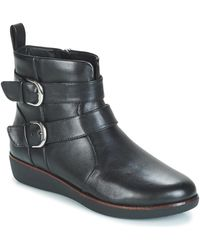 Fitflop Botines LAILA DOUBLE BUCKLE - Negro
