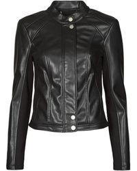 Guess Leren Jas Fiammetta Jacket - Zwart