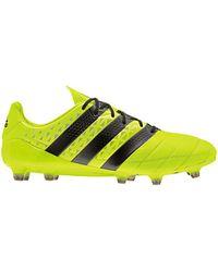 adidas ACE 16.1 FG Leather Chaussures de foot - Jaune