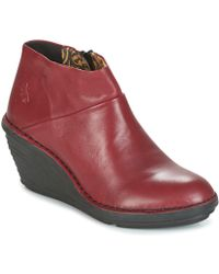Fly London - Sipi 671 Women's Mid Boots In Red - Lyst