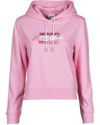 Tommy Hilfiger Sweater Tjw Cropped Tommy Flag Hoodie - Roze
