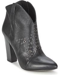 Guess - Meg Women's Low Ankle Boots In Black - Lyst