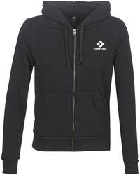 Converse Sweater Star Chevron Embroidered Fz Hoodie - Zwart