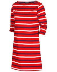Regatta Harlee Striped Jersey Dress - Red