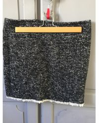 Karl Lagerfeld Mini jupe tweed lamé Jupes - Gris