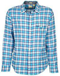 Dockers   The Twill Wrinkle Shirt Men's Long Sleeved Shirt In Blue   Lyst