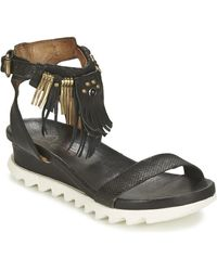 A.s.98 Sandalen Flood - Zwart