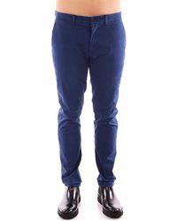 Harmont & Blaine CHINOS NARROW pantalon bleu Chinots