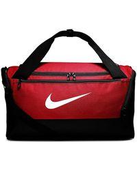 Nike Brasilia S Duffel Sports Bag - Red
