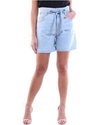 Manila Grace S0ZJ001D8 Short - Bleu