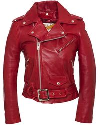 Schott Nyc PERFECTO FEMME Rouge - Rosso
