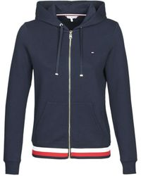 Tommy Hilfiger Sweater Heritage Zip Through Hoodie - Blauw
