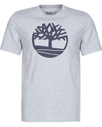 Timberland Brand Tree T- T-Shirt Homme - Gris