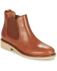 Bensimon Boots Crepe Mid Boots - Brown