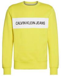Calvin Klein - Sweat-shirt Instit Contrast Panel Reg Cn - Lyst