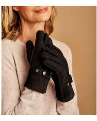Woolovers Buckle Detail Sheepskin Glove Gloves - Black