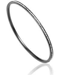 Cleor Bracelets Jonc en Acier et Cristal Blanc Femme - Multicolore