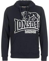 Lonsdale London - Tadley Men's Sweatshirt In Black - Lyst