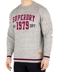 8179b4f3 Men's University Boxy Fit Applique Sweatshirt, Grey Men's Jumper In Grey -  Gray