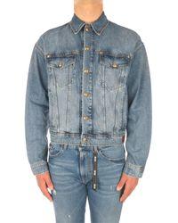 Versace Jeans Couture C1GWA94460393 Denim Homme Denim Veste - Bleu