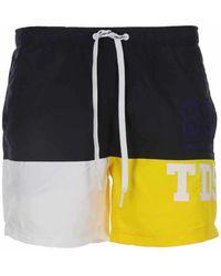Teddy Smith - short de bain hommes Maillots de bain en jaune - Multicolore