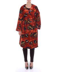Stella Jean JK02300T9635 femmes Manteau en rouge