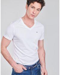 Tommy Hilfiger T-shirt Korte Mouw Tjm Original Jersey Tee V Neck - Wit