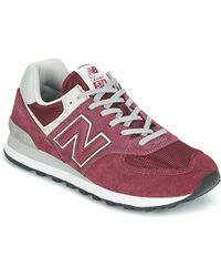 huge discount 47dfd b3ab2 New Balance Ms574 Sbg Men's Shoes (trainers) In Red in Red ...