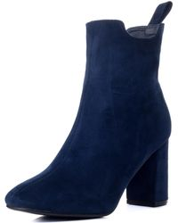 a0af11221300 SPYLOVEBUY - Refined Women s Low Ankle Boots In Blue - Lyst