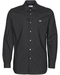 Lacoste Overhemd Lange Mouw Pitta - Zwart