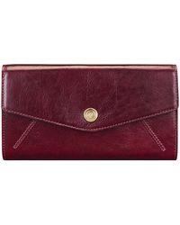 Maxwell Scott Bags Wine Women's Purse Wallet In Red