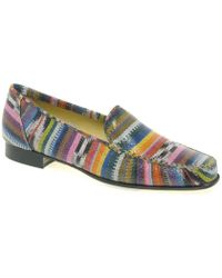 Charles Clinkard - Jazz Ladies Casual Moccasins Women's Loafers / Casual Shoes In Multicolour - Lyst