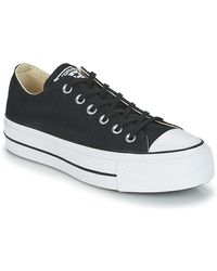 Converse Lage Sneakers Chuck Taylor All Star Lift Clean Ox Core Canvas - Zwart