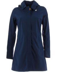 K-Way Abrigo MATHILDE BONDED JERSEY chaquetas mujer - Azul