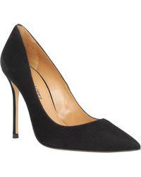 Pura López 107 velours Femme Noir femmes Chaussures escarpins en Noir