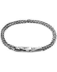 Anchor & Crew Double Bracelet Staysail Sail Chaîne Argenté Bracelets - Métallisé